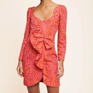 Tara Jarmon - Fuschia Leopard Cocktail Dress